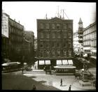 Adams Sq. 1900 Looking Up Cornhill And Brattle